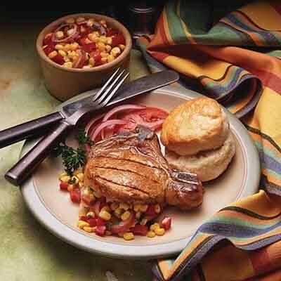 Corn Salsa Stuffed Pork Chop Recipe