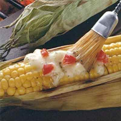 Grilled Corn With Herb Butter Image