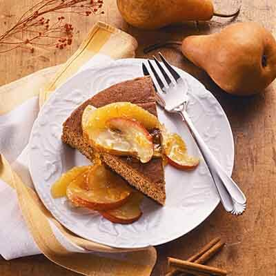 Gingerbread With Fruited Compote Image