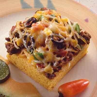 Cheesy Mexican Cornbread Squares Image