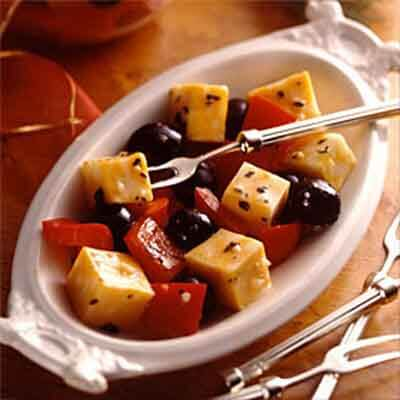 Marinated Cheese With Peppers & Olives Image