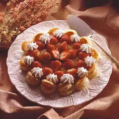 Puff Pastry Strawberry Lemon Tart Image