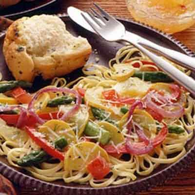 Pasta & Vegetables In Wine Sauce Image