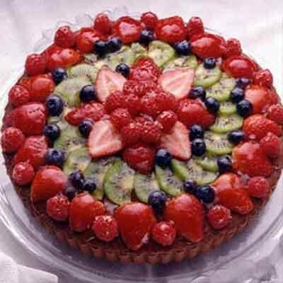 Chocolate Fruit Sponge Cake Recipe