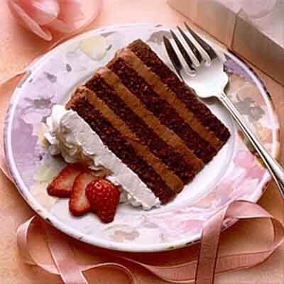 Fruit Crowned Chocolate Mocha Cream Torte Image