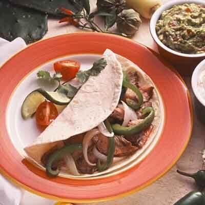 Flank Steak In Fajita Marinade Image