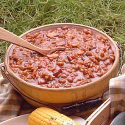 Stove-Top Spicy Baked Beans Image