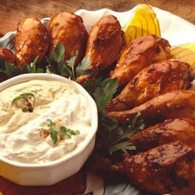 Grilled Drumsticks With Zesty Dippers Image