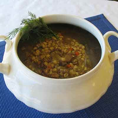 Mushroom Barley Soup Image