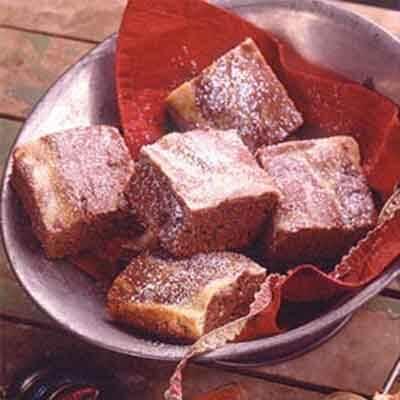 sour cream swirled brownies