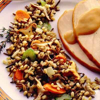 Two-Grain Pilaf With Wild Mushrooms Image