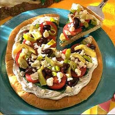 Greek-Style Pizza Image