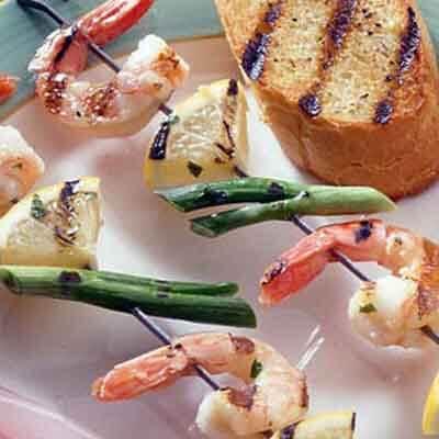 Cilantro Garlic Shrimp Kabobs Image