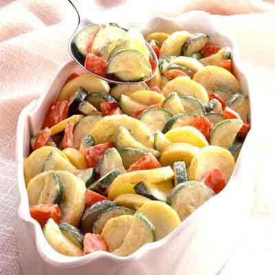 Zucchini & Peppers With Mustard Butter Image