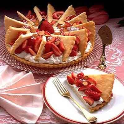 Almond Pastry With Strawberries Image