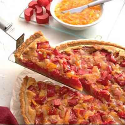Marmalade Glazed Rhubarb Custard Tart Image