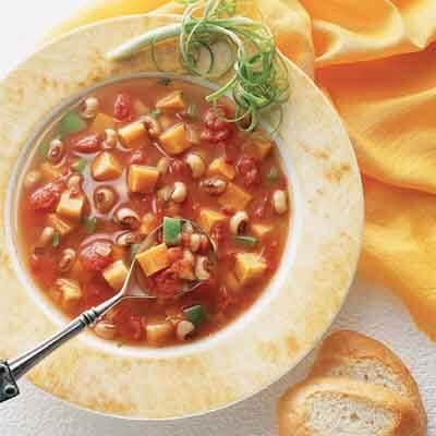 Sweet Potato Black-Eyed Pea Soup Image