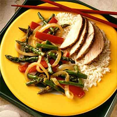 Szechuan Asparagus & Red Peppers Image