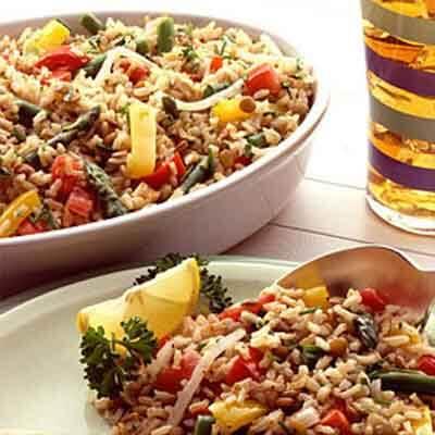Spring Vegetable Brown Rice Pilaf Image