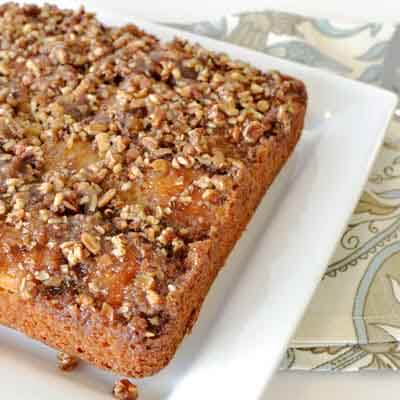 Apricot Pecan Upside Down Cake Recipe
