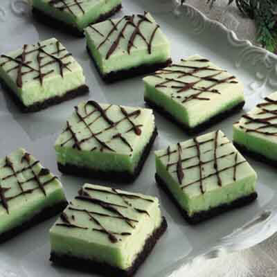 Minted Cheesecake Bars Image