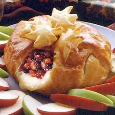 Walnut Cranberry Stuffed Brie Image