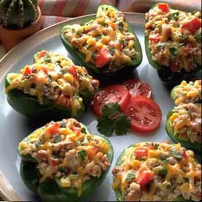 Southwest Couscous & Bean Stuffed Peppers Image