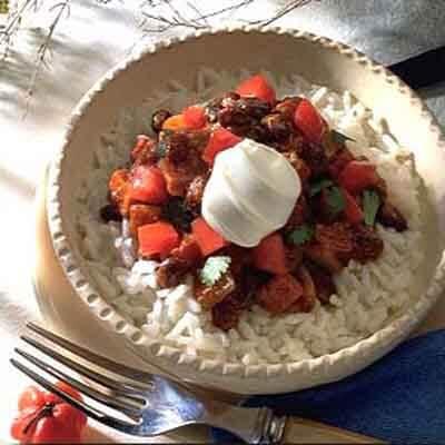 Easy Black Bean Chili On Rice Image