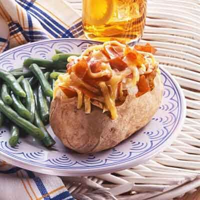 Cheese 'N Beef Topped Potatoes Image