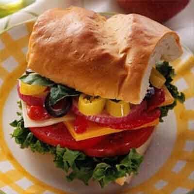 Roasted Red Pepper Stuffed Sandwich Image