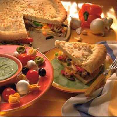 Mushroom Focaccia Sandwich Image