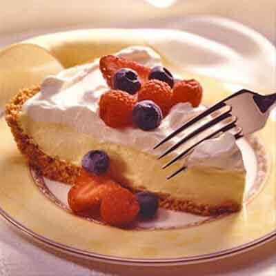 Lemon Cream Pie With Fresh Fruit Image