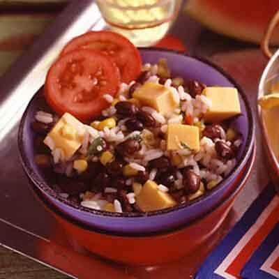 Easy Cheesy Rice & Bean Salad Image