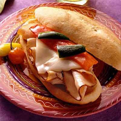 Roasted Pepper & Turkey Sandwiches Image