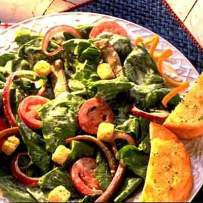 Warm Italian Beef And Spinach Salad Image