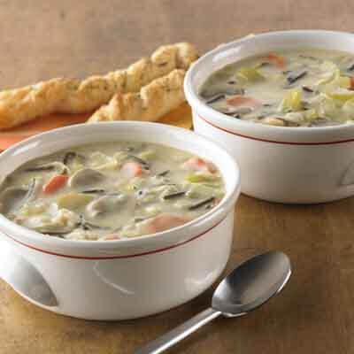 Wild Rice, Barley & Leek Soup   Image