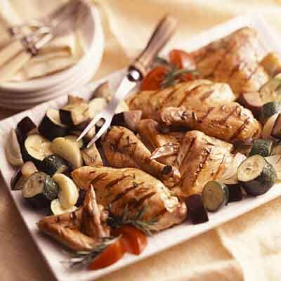 Rosemary Grilled Chicken & Vegetables Image