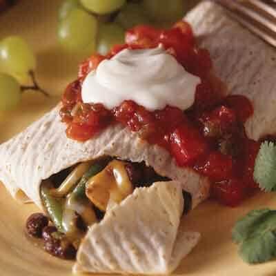 Spicy Black Bean Burritos Image