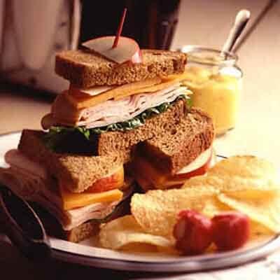 Deli Chicken Sandwich On Rye Image