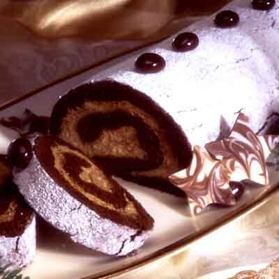 Out-Of-This-World Mocha Chocolate Cake Roll Image