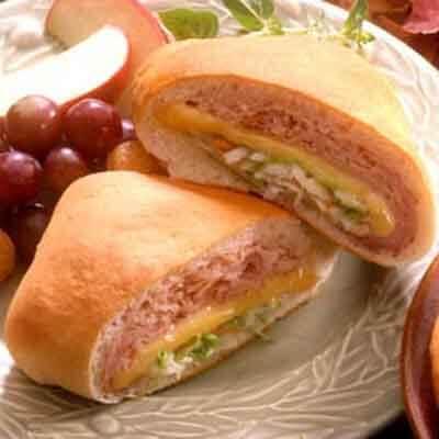 Cheesy Ham Pockets Image