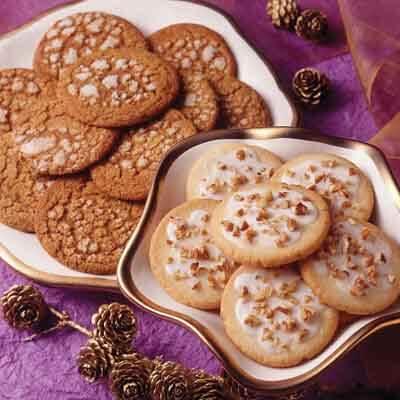 Rum Glazed Shortbread Cookies Recipe