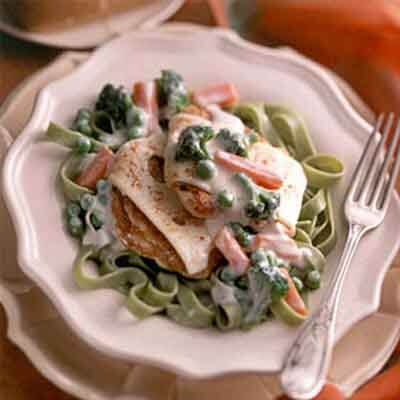 Chicken Medallions With Alfredo Vegetables Image