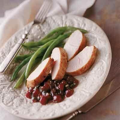 Turkey Tenderloins With Berry Chutney Image