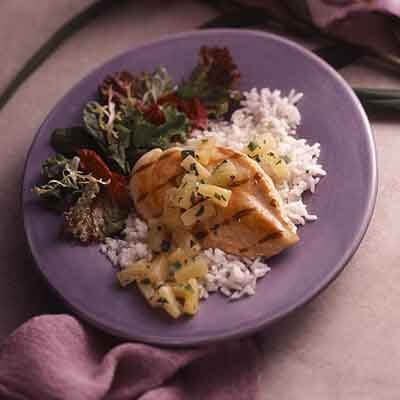 Glazed Chicken With Pineapple Salsa Image