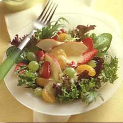 Fruit Salad With Sweet Orange Cream Image