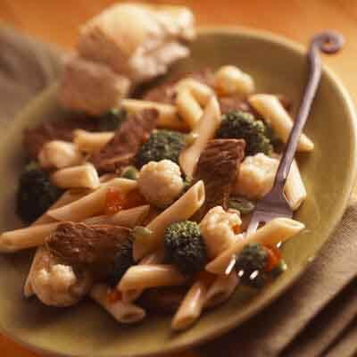 Southwestern Beef & Pasta Stir-Fry Image