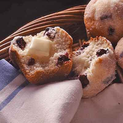 Sugar-Dipped Blueberry Muffins Image