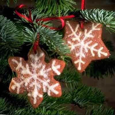 Chocolate Snowflake Crisps Image