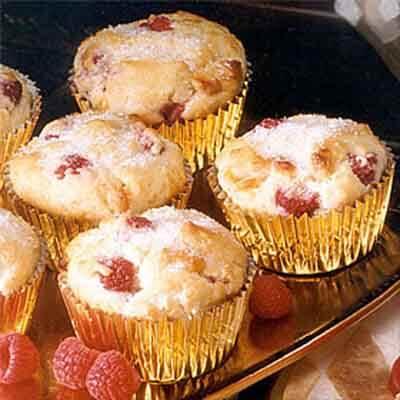 Raspberry White Chocolate Muffins Image
